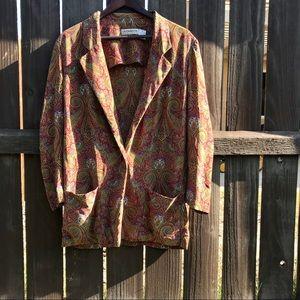 Vintage Liz clabourne silk paisley blazer